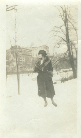 My grandmother in Central Park, NYC, 1926
