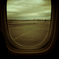 View of NYC from EWR en route to LHR