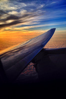 Flying into the Sunrise en route to LHR - United Boeing 777