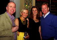 From left: Charlie Law and Bronxville School Alums Susan Kelty Law, Melissa Gagen and Roger Goodell
